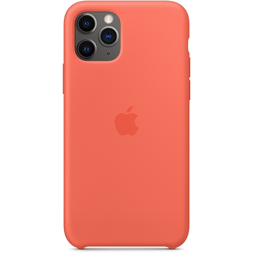 Silicon Case Apple iPhone 11 Pro Max спелый клементин