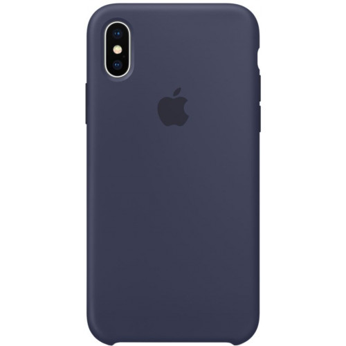 Silicon Case Apple iPhone XS тёмно-синий