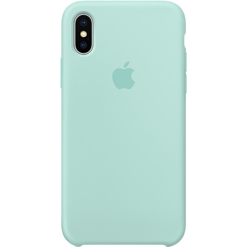 Silicon Case Apple iPhone XS голубой берилл