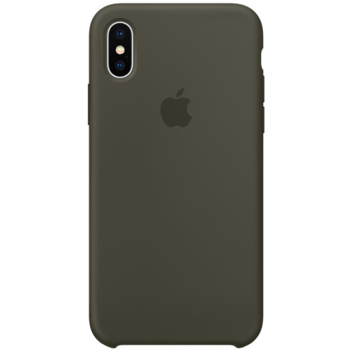 Silicon Case Apple iPhone XS сосновый лес