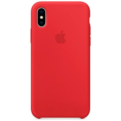 Silicon Case Apple iPhone XS красный