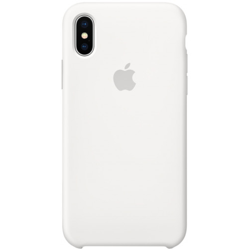 Silicon Case Apple iPhone XS белый
